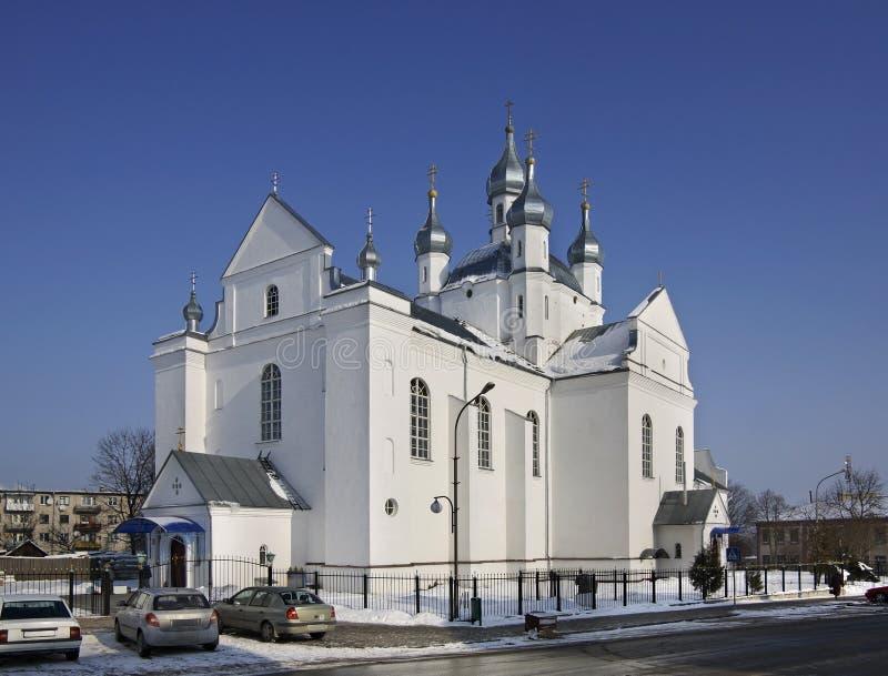 Transfiguratiekathedraal in Slonim wit-rusland stock afbeelding