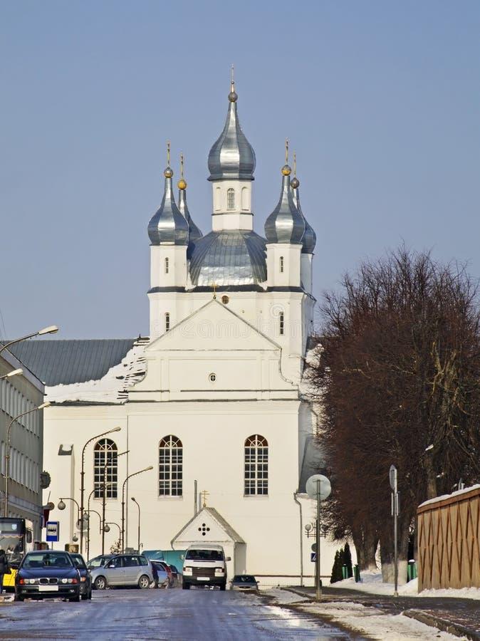 Transfiguratiekathedraal in Slonim wit-rusland royalty-vrije stock afbeelding