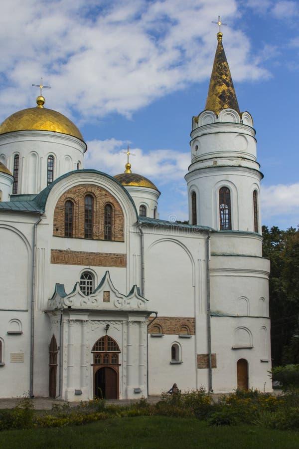 The Transfiguration Cathedral in Chernihiv. Ukraine.  stock photo