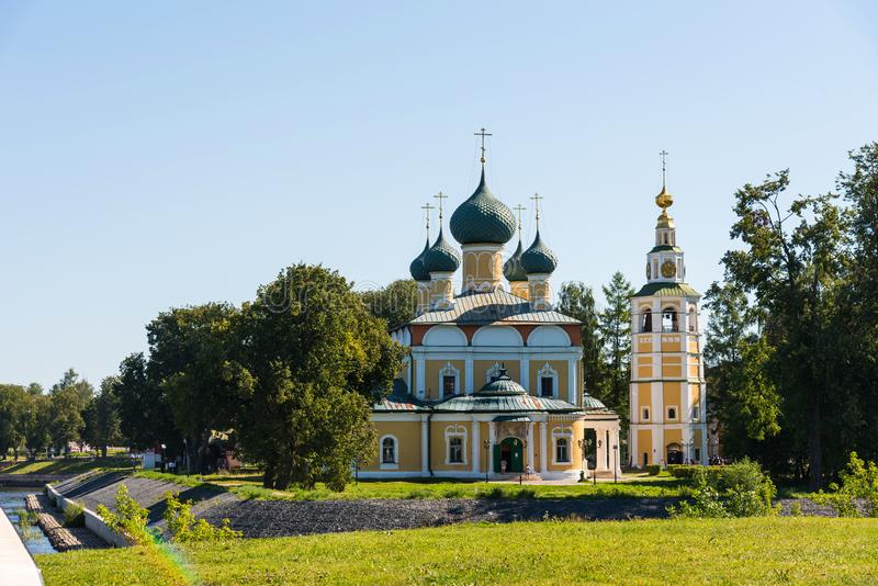 The Transfiguration Cathedral Preobrazhensky sobor of the Kremlin in Uglich, Russia royalty free stock images
