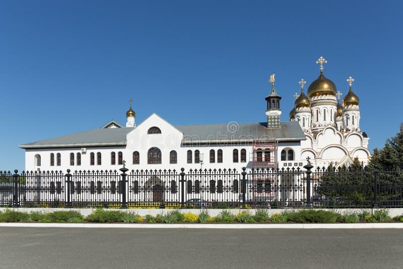 Transfiguration Cathedral in Togliatti. The biggest Orthodox church in Samara region stock images