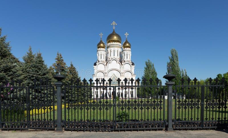 Transfiguration Cathedral in Togliatti. The biggest Orthodox church in Samara region stock photography