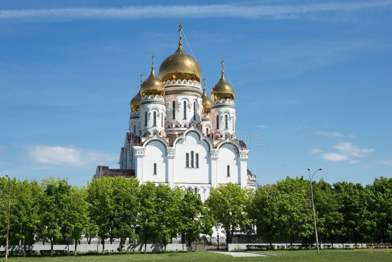 Transfiguration Cathedral in Togliatti. The biggest Orthodox church in Samara region stock image