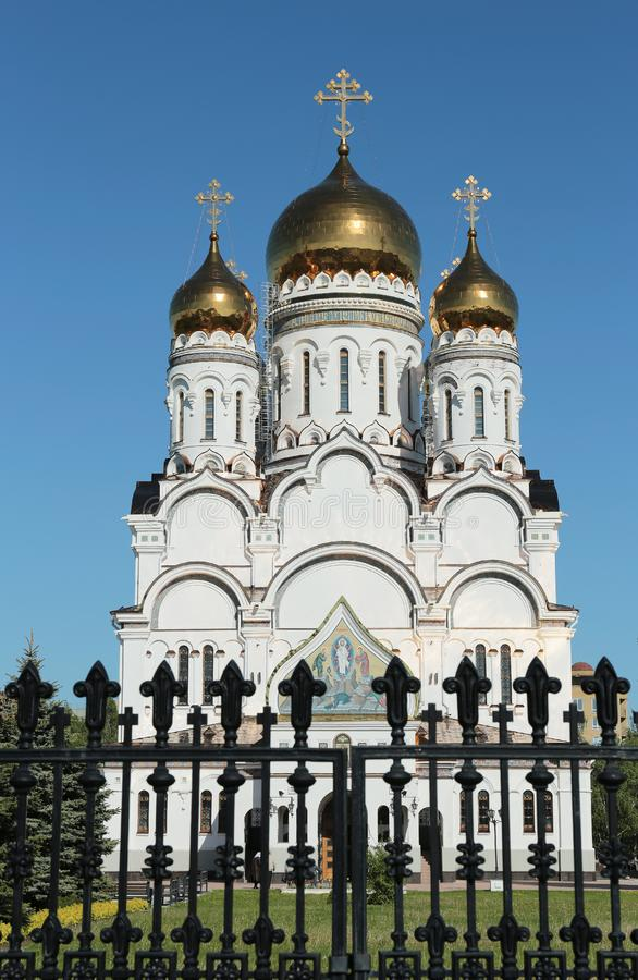 Transfiguration Cathedral in Togliatti. The biggest Orthodox church in Samara region royalty free stock photos