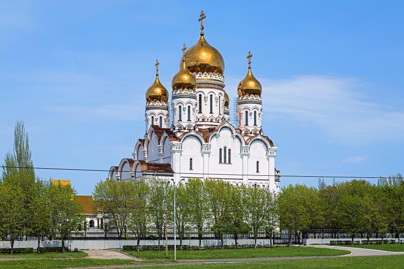 Transfiguration Cathedral in Togliatti. Russia stock images