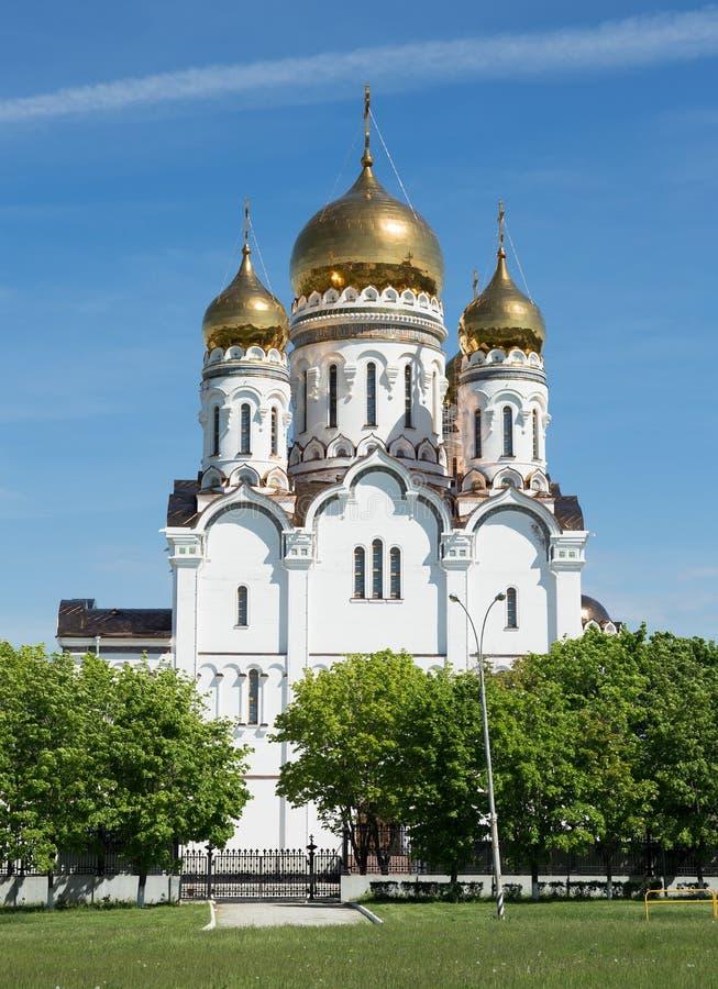 Transfiguration Cathedral in Togliatti. The biggest Orthodox church in Samara region royalty free stock photography