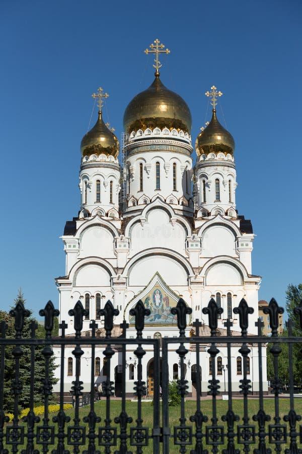 Transfiguration Cathedral in Togliatti. The biggest Orthodox church in Samara region stock photo