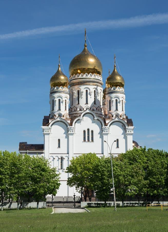 Transfiguration Cathedral in Togliatti. The biggest Orthodox church in Samara region royalty free stock images