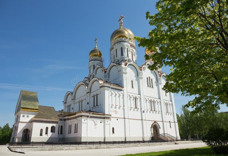 Transfiguration Cathedral in Togliatti. The biggest Orthodox church in Samara region royalty free stock photo