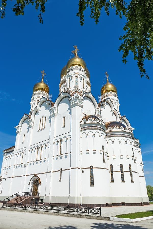 Transfiguration Cathedral in Togliatti. The biggest Orthodox church in Samara region stock photos