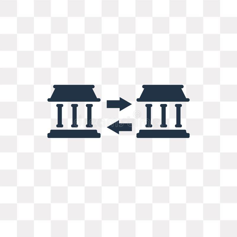 Transfira o ícone do vetor do dinheiro isolado no fundo transparente, T ilustração stock