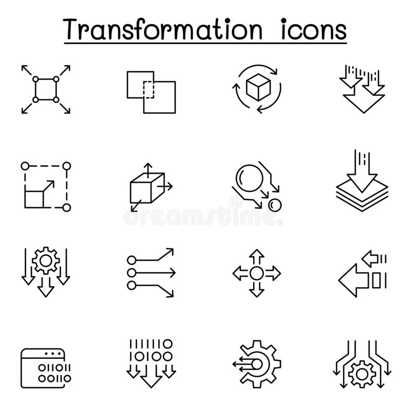 Free Transform, Edit, Change, Scale, Update Icon Set In Thin Line Style Royalty Free Stock Image - 176418786