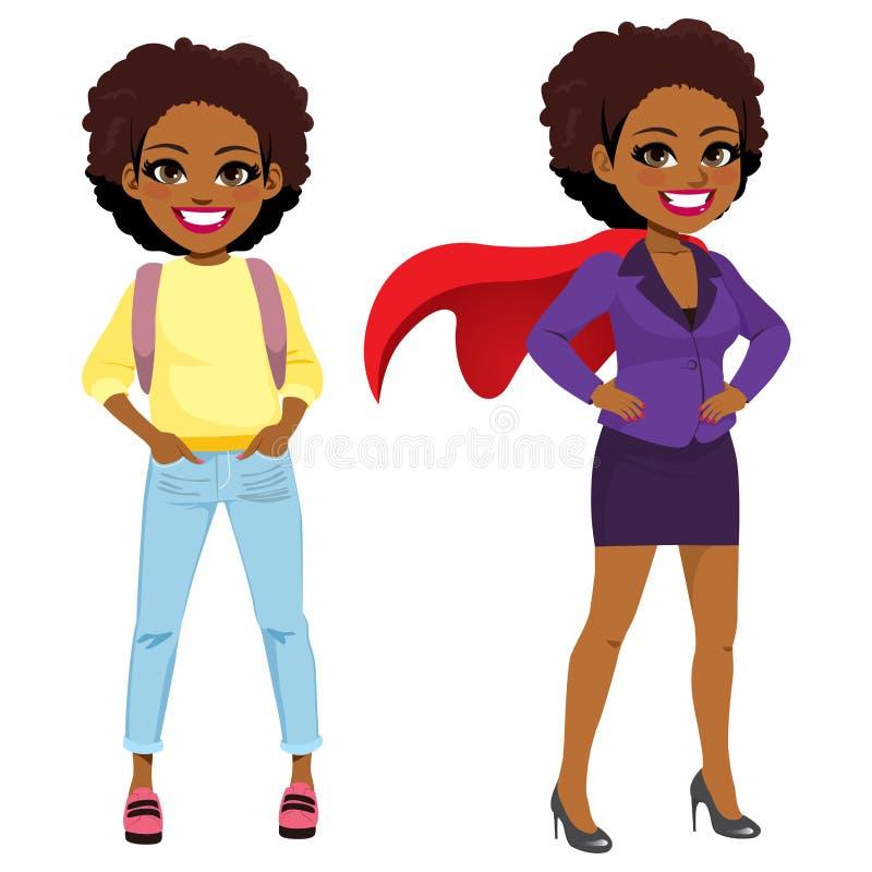 Transformación estupenda de la mujer de negocios stock de ilustración