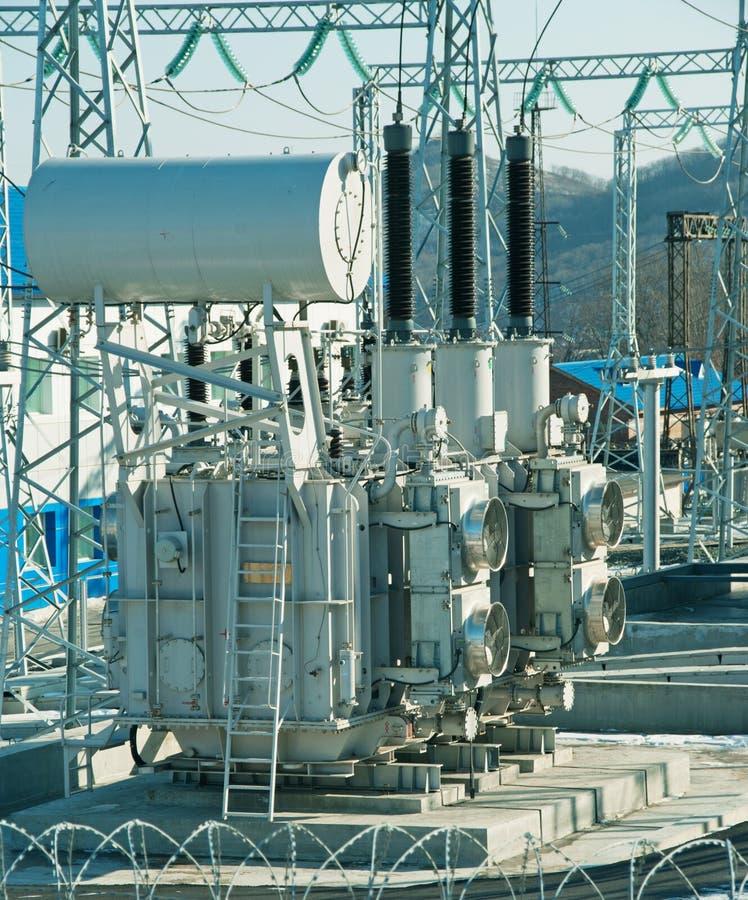 Transformador da central energética fotos de stock royalty free