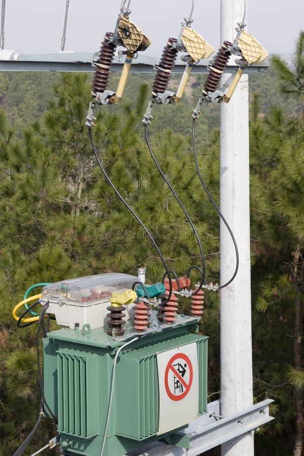 Transformador da energia eléctrica imagem de stock