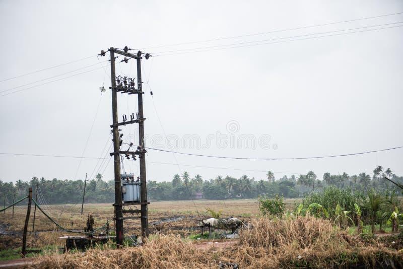 Transformador eléctrico en Kottayam imagen de archivo