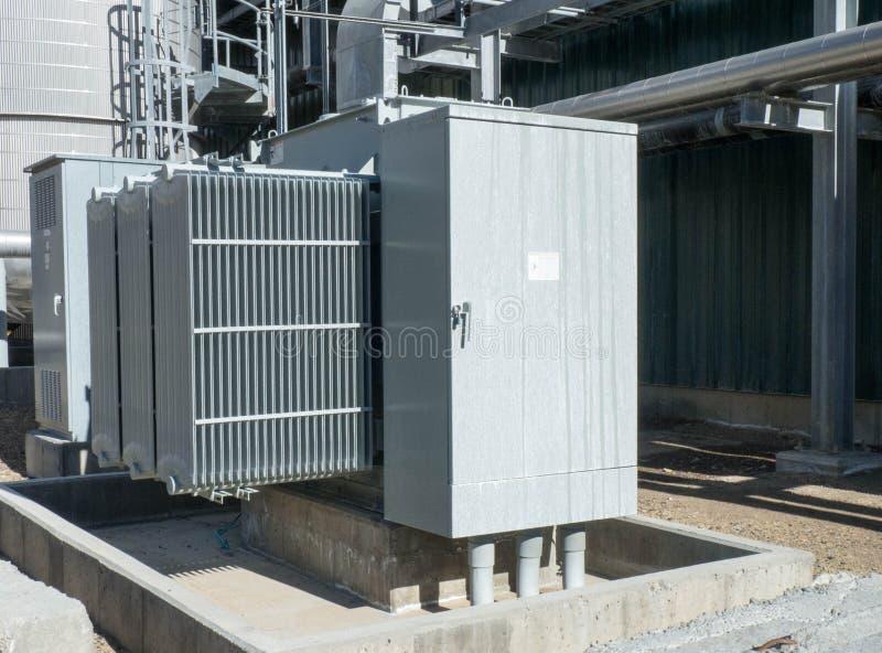 Transformador refrigerado por aire imagen de archivo libre de regalías