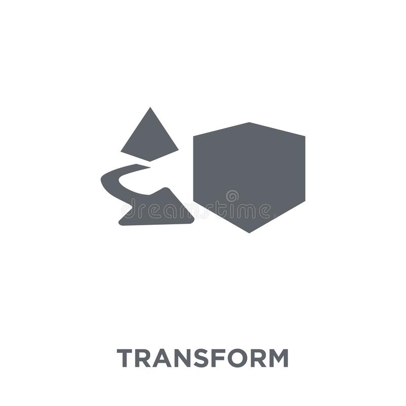 Transformatiepictogram van Meetkundeinzameling royalty-vrije illustratie