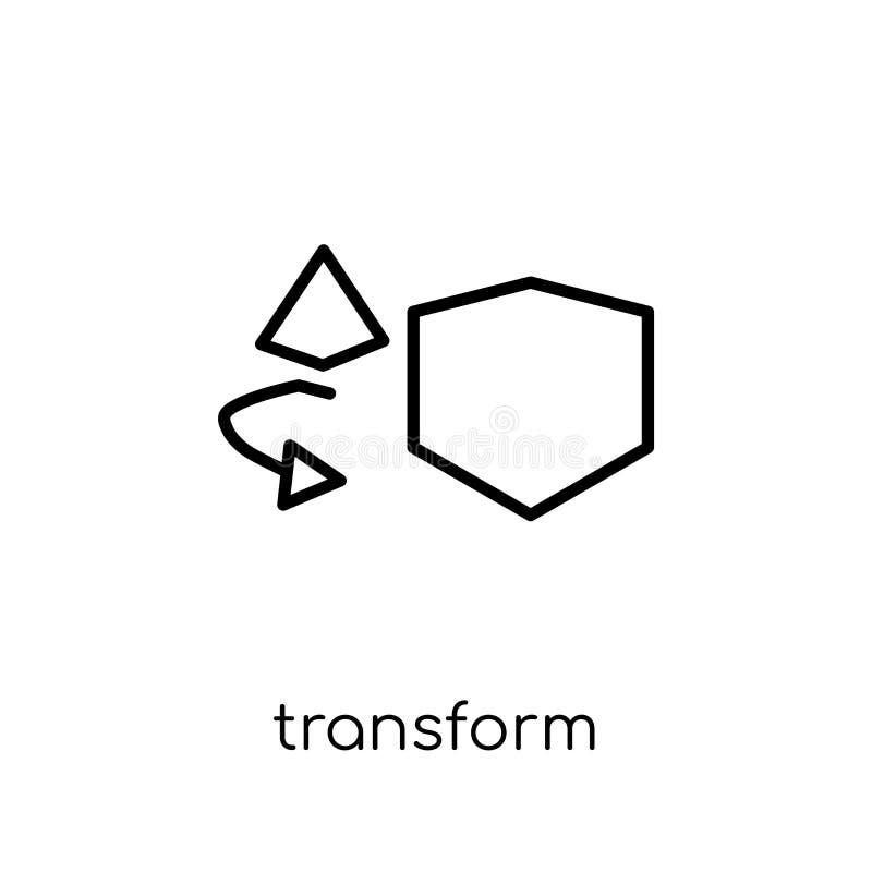 Transformatiepictogram van Meetkundeinzameling stock illustratie