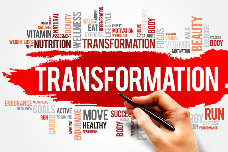 transformation photographie stock