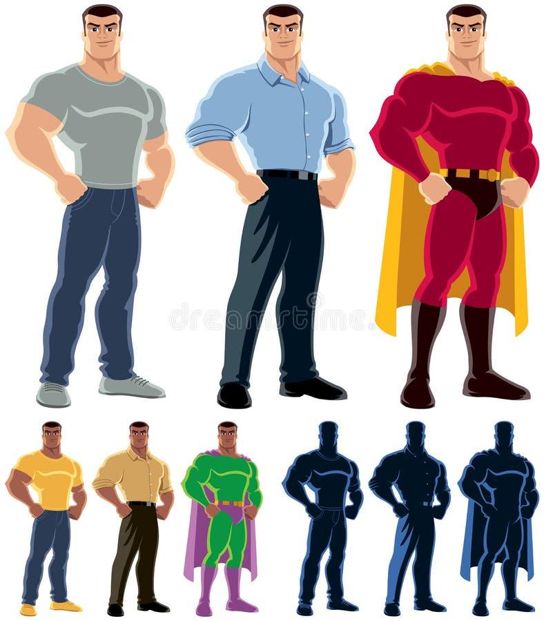 Transformation de super héros illustration stock