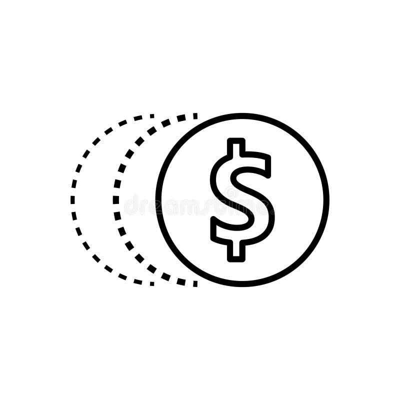 Transformation money icon , vector illustration royalty free illustration