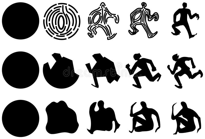 Download Transformation of people stock vector. Image of five - 11545621