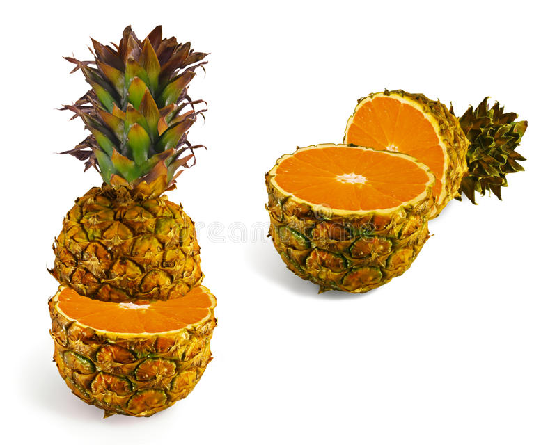 Download The Transformation Of Pineapple In Orange Stock Image - Image: 14851619