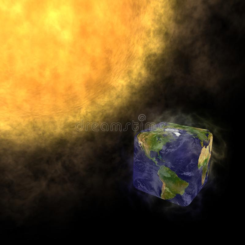 Download Transformation Of Planet Earth Global Warming Stock Illustration - Illustration of cube, climate: 17459679