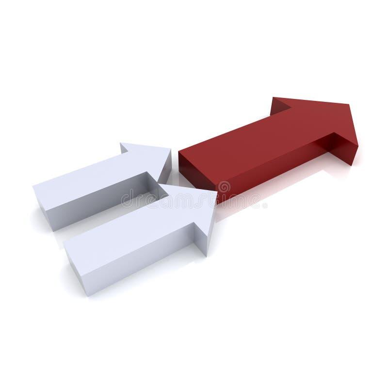 Download Transformation red symbol stock illustration. Image of concept - 19253901