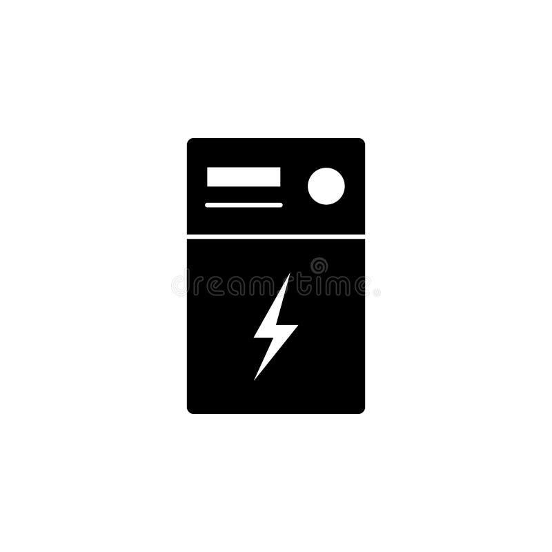 Transformator, błyskawicowa ikona na białym tle Może używać dla sieci, logo, mobilny app, UI UX ilustracja wektor