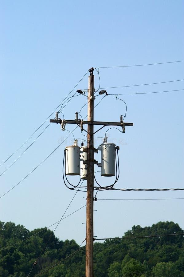 Transformatoren Auf Einem Pol Stockbilder