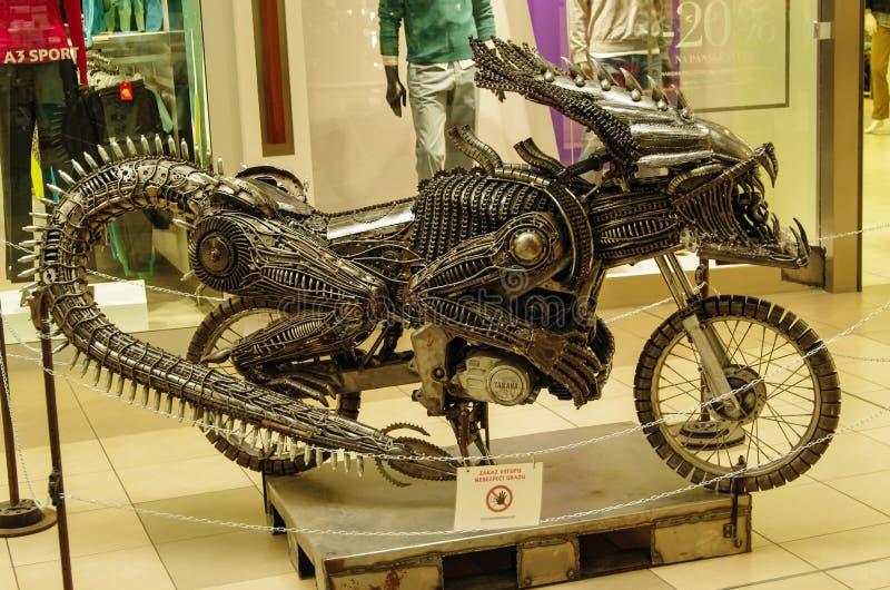 Transformatormotorcykel royaltyfria bilder