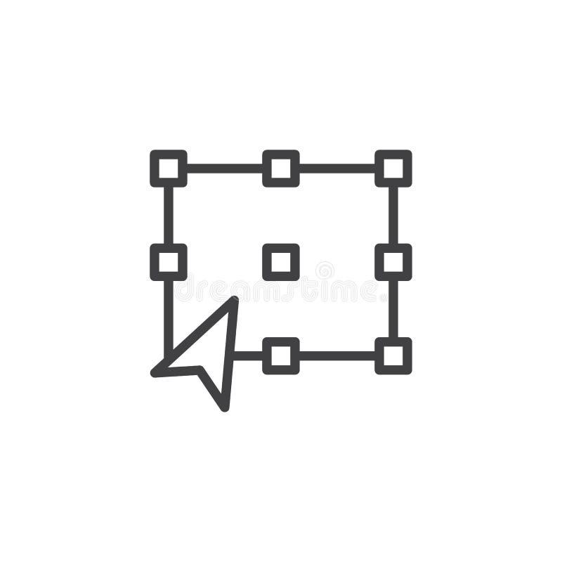 Transformaty narzędzia konturu ikona royalty ilustracja