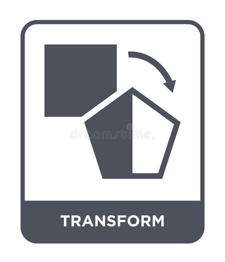 transforme el icono en estilo de moda del diseño Transforme el icono aislado en el fondo blanco transforme el plano simple y mode stock de ilustración
