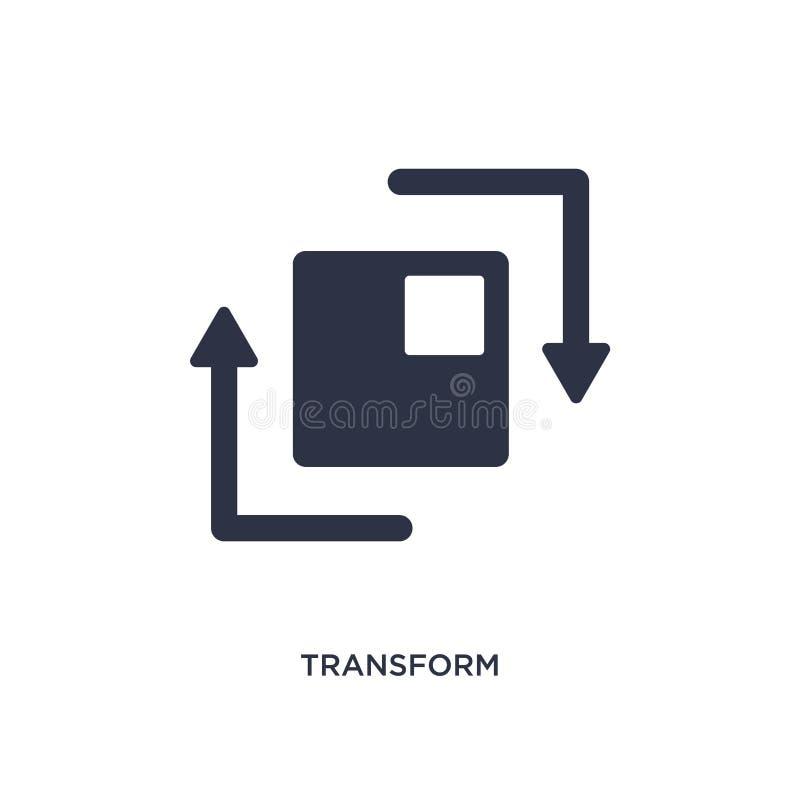 transforme el icono en el fondo blanco Ejemplo simple del elemento de la figura geométrica concepto libre illustration