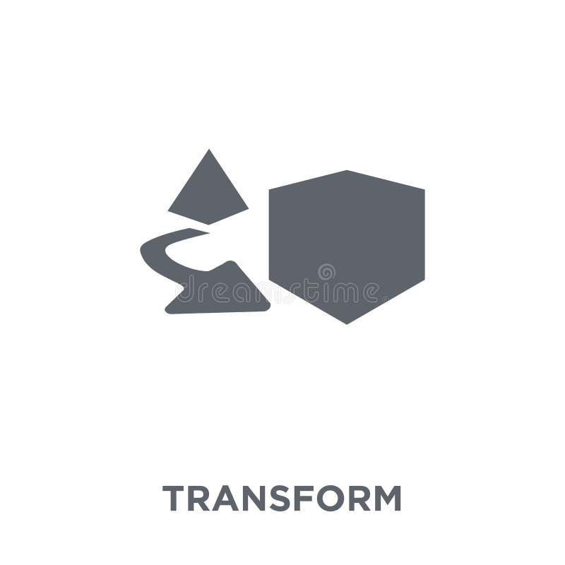 Transforme o ícone da coleção da geometria ilustração royalty free