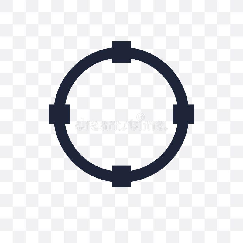 Transforme o ícone transparente Transforme o projeto do símbolo de Geometr ilustração do vetor