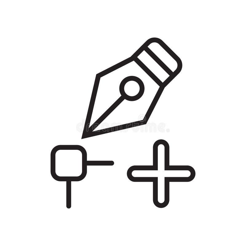 Transforme o sinal e o símbolo do vetor do ícone isolados no backgrou branco ilustração stock