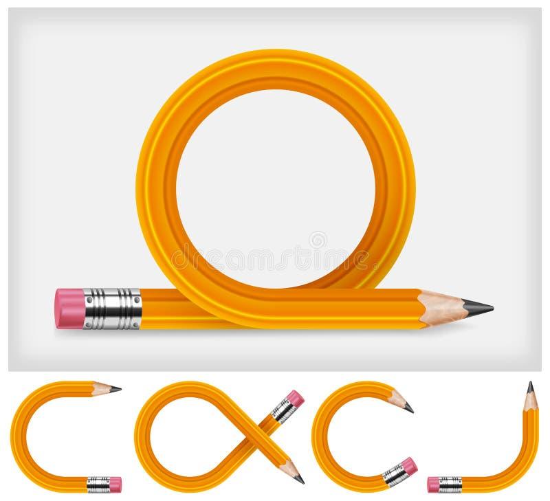 Transformed pencil stock illustration