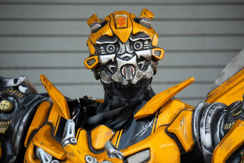 Transformer model Bumble bee. . Universal Studios. Orlando. Florida. USA stock image