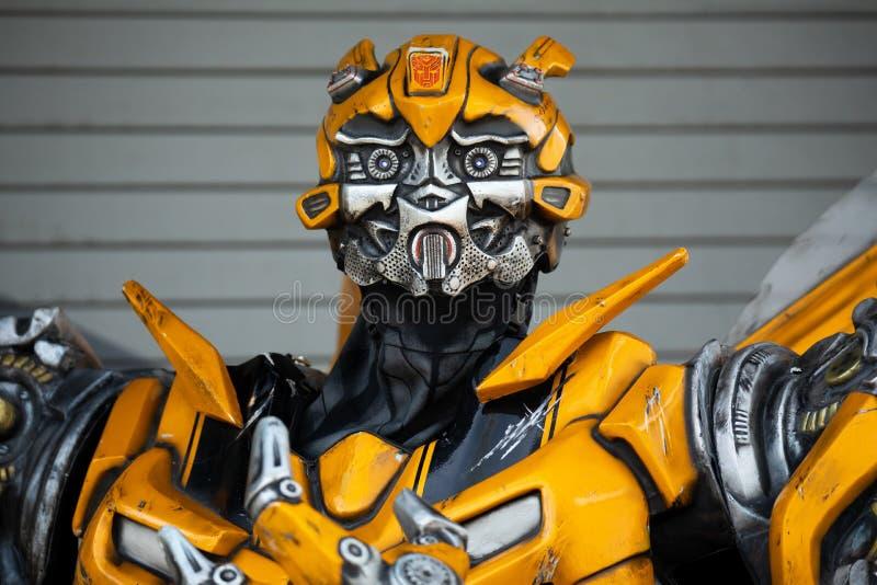 Transformer model Bumble bee. . Universal Studios. Orlando. Florida. USA royalty free stock photos