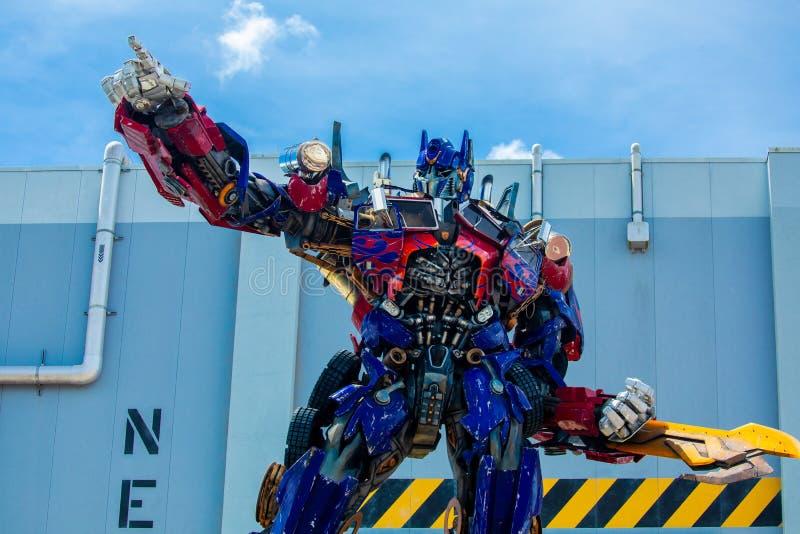 Transformer Optimus Prime. Universal Studios. Orlando. Florida. USA royalty free stock photography