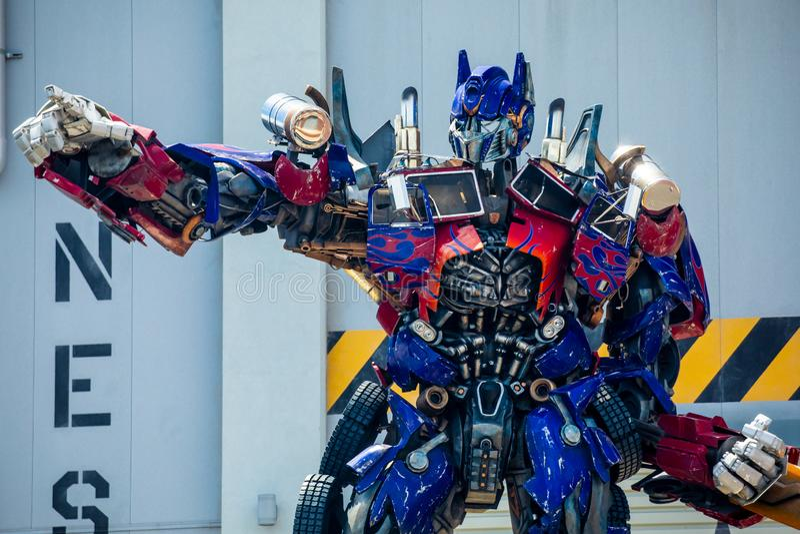 Transformer Optimus Prime. Universal Studios. Orlando. Florida. USA stock image