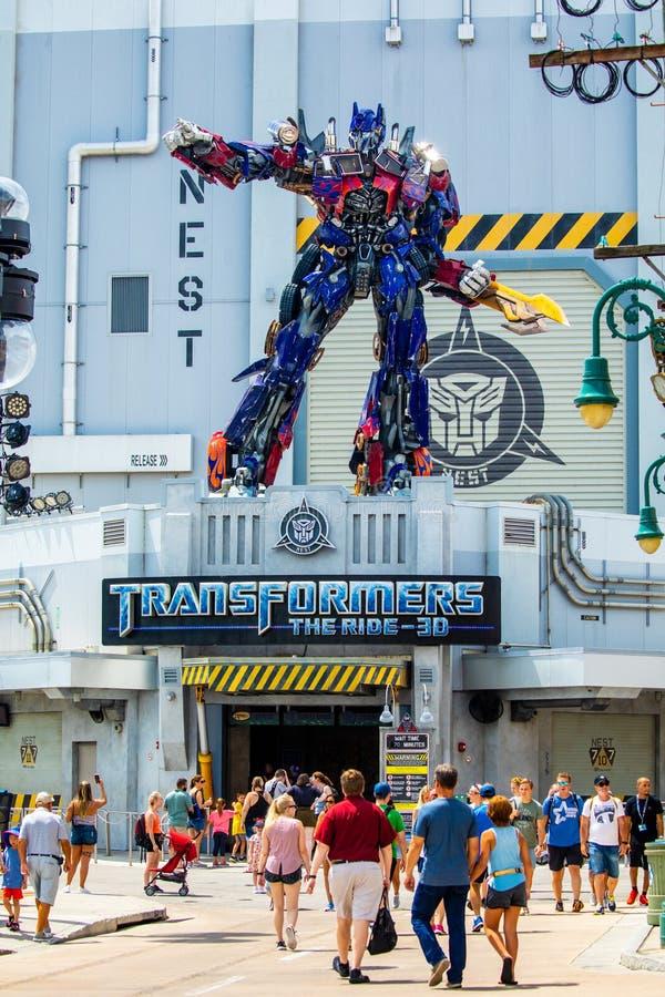 Transformer Optimus Prime. Universal Studios. Orlando. Florida. USA stock photo