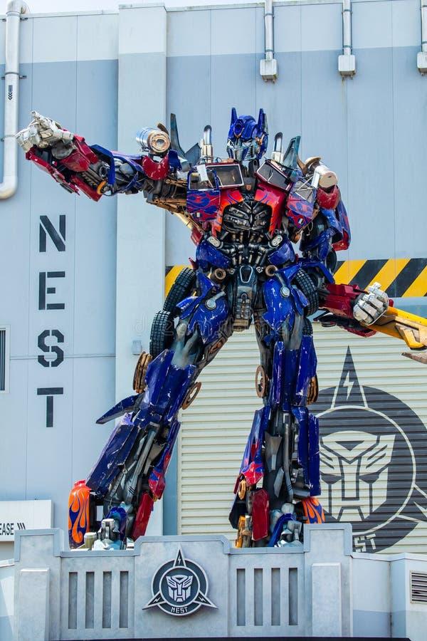 Transformer Optimus Prime. Universal Studios. Orlando. Florida. USA royalty free stock photos