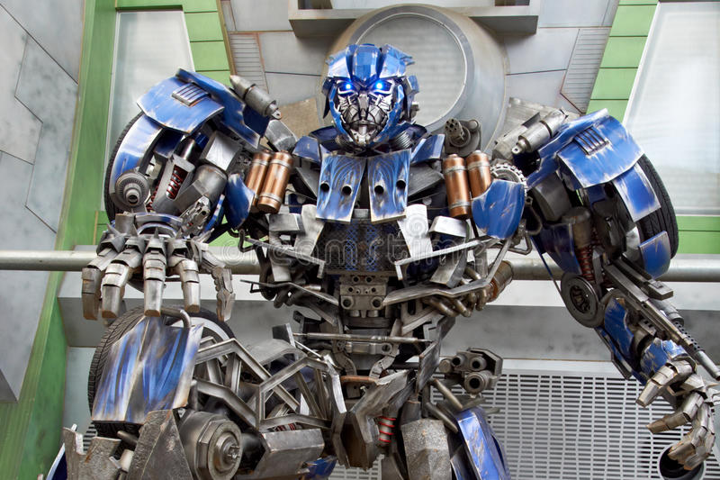 Transformer at Universal Studios Singapore royalty free stock photography
