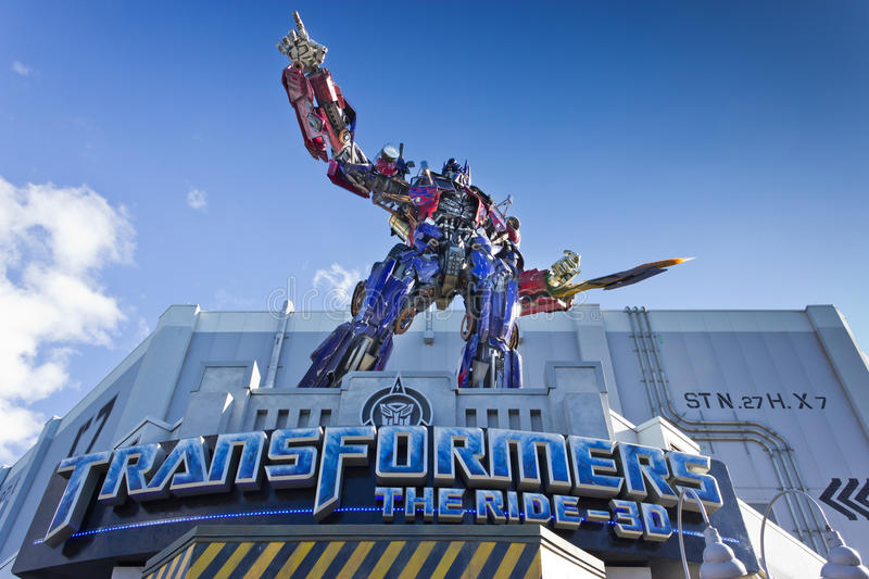 Transformers Ride stock photography