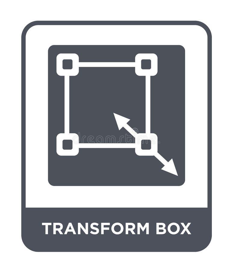 transformez l'icône de boîte dans le style à la mode de conception transformez l'icône de boîte d'isolement sur le fond blanc tra illustration libre de droits