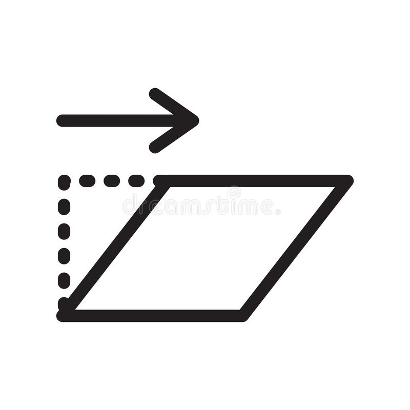 Transformez le signe et le symbole de vecteur d'icône d'isolement sur le backgrou blanc illustration stock